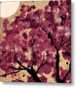 Oriental Plum Blossom Metal Print