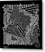 Origami Abstraction Metal Print