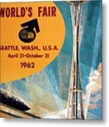 Original 1962 Seattle Worlds Fair Promotion Metal Print