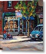 Original Art For Sale Montreal Petits Formats A Vendre Boulangerie St.viateur Bagel Paintings  Metal Print