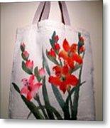 Original Hand Painted Tote Bag Metal Print