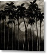 Original Moonlit Palm Trees  Metal Print