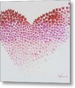 Original Oil Painting Heart, Painting Butterflies, Valentines Day Art, Wall Art Love Metal Print