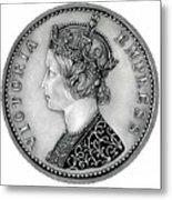 Original Silver Victoria Empress Metal Print