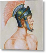 Original Watercolour Painting Art Male Nude Portrait Of General  On Paper #16-3-4-19 Metal Print