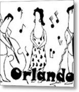 Orlando Jazz Metal Print