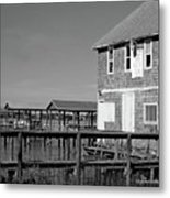 Ormond Yacht Club Black And White Metal Print