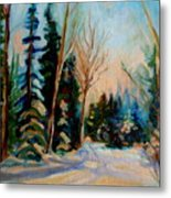 Ormstown Quebec Winter Road Metal Print