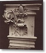 Ornamental Sculpture From The Paris Opera House (column Detail) Metal Print
