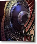 Ornamented Metal Spiral Staircase Metal Print