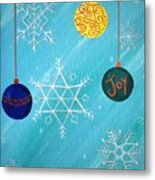 Ornaments And Snowflakes Metal Print