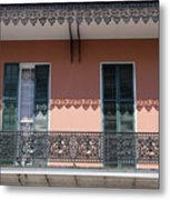 Ornate Balcony In New Orleans Metal Print