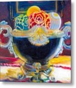 Ornate Black Bowl Metal Print