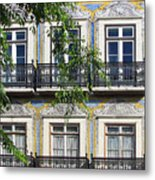 Ornate Building Facade In Lisbon Portugal Metal Print