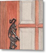 Ornate Door Handle Metal Print