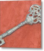 Ornate Mansion Key Metal Print