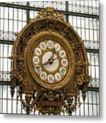 Ornate Orsay Clock Metal Print