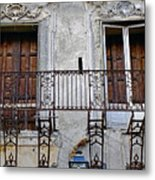 Ornate Weathered Artistic Architecture Metal Print