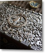 Ornate Wooden Chest Metal Print