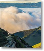 Morning Low Clouds And Hills Metal Print