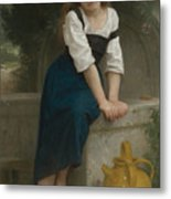 Orphan At The Fountain Metal Print