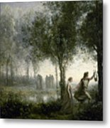 Orpheus Leading Eurydice From The Underworld Metal Print