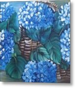 Ortencias Azules 2 Metal Print