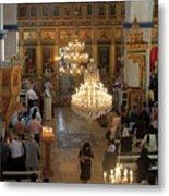 Orthodox Mass Metal Print