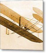 Orville Wright In Wright Flyer 1908 Metal Print