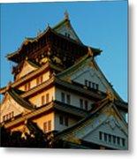 Osaka Castle Near Twilight Metal Print