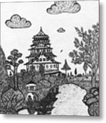Osaka Castle Metal Print