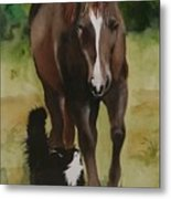 Oscar And Friend Metal Print