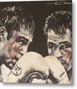 Oscar De La Hoya Vs Manny Pacquiao Metal Print