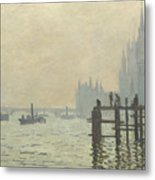 Oscar Monet   The Thames Below Westminster Metal Print