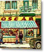 Oscar 's Candy Store Montreal Metal Print