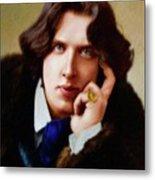 Oscar Wilde, Literary Legend Metal Print