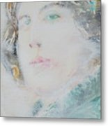 Oscar Wilde - Watercolor Portrait.7 Metal Print