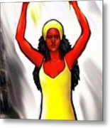 Oshun -goddess Of Love -4 Metal Print by Carmen Cordova