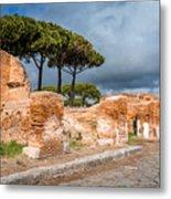Ostia Antica - Strolling The Decuman Metal Print
