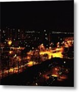 Ostrava At Night Metal Print