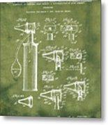 Otoscope Patent 1927 Grunge Metal Print