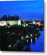 Ottawa At Night Metal Print