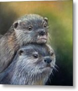 Otter Be Two Metal Print
