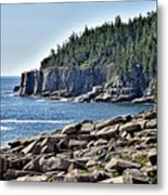 Otter Cliffs In Acadia National Park - Maine Metal Print