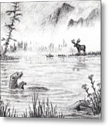 Otter Fog Metal Print