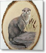 Otter - Growing Curiosity Metal Print