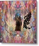 Otter Moon Metal Print