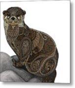 Otter Tangle Metal Print