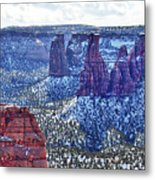 Otto Trail Overlook Metal Print
