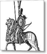 Ottoman Cavalryman, 1576 Metal Print
